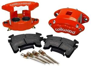 Wilwood D154 Brake Caliper Pad Set W Pins Front 2 Piston 1 04 Red Gm Metric