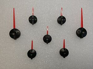 99 02 Red Black Escalade Style Pointer Needles Set Gm Truck Clusters Suv s
