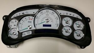 4f 03 04 2003 2004 Factory Reman Escalade Platinum White Gauge Complete Cluster
