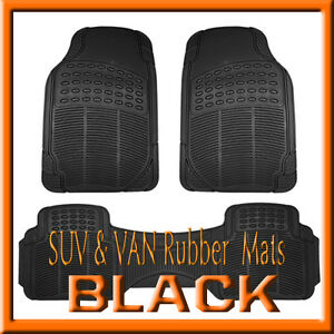 Fits Dodge Ram 1500 All Weather Semi Custom Black Rubber Floor Mats 3pcs