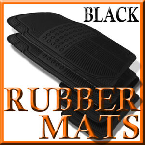 Fits Dodge Ram 1500 2500 3500 Black Rubber Floor Mats