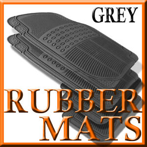 Fits Toyota Tacoma All Weather Grey Rubber Floor Mats