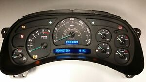 1a 05 06 2005 2006 Reman Replacement Custom Silverado Ss Gauge Complete Cluster
