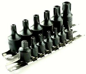 15 Pc Air Impact Tamper Proof Star Bit Socket Set 1 4 3 8 Dr Torx Sockets