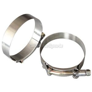 2x 3 Inch Stainless Intercooler Silicone Turbo Hose Coupler T Bolt Clamp