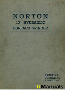 Norton 10 Hydraulic Surface Grinder Instruction And Service Manual