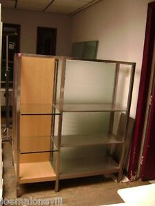 Retail Glass Metal Shelving Modern Retail Display Stand