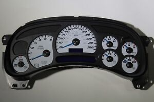 1a 03 04 2003 2004 Factory Remanufactured Custom Ss Gauge Face Complete Cluster