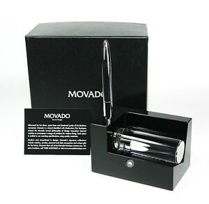 Movado Museum Business Card Holder With Metal Pen Dbk000212m 150 00 New Box
