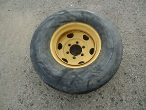 Hyster Forklift Wheel 6 lug With Used Goodyear G286 Tire 425 65 22 5