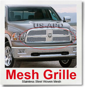 For 2009 2012 Dodge Ram 1500 Pickup Stainless Steel Mesh Grille