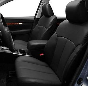 2010 2012 Subaru Outback Base Premium Leather Interior Seat Cover Black