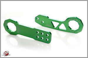 Password Jdm Billet Aluminum Front Rear Tow Hook Green For Crx Civic Integra