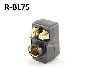 F type Snap on Right Angle Video Balun For Antenna Wire 300 75 Ohm R bl75