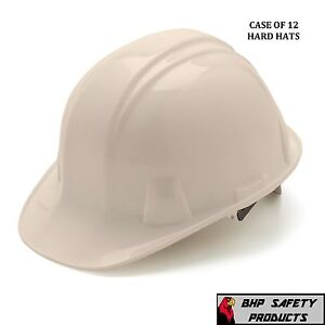 Pyramex Cap Style Safety Hard Hat White 4 Point Ratchet Construction 12 Hats
