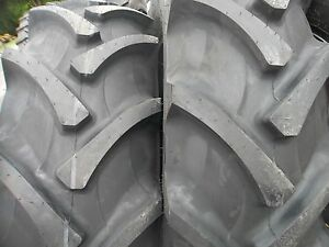 Two 18 4x30 8 Ply R 1 Tube Type Farm Tractor Tires Fit Ford Deere