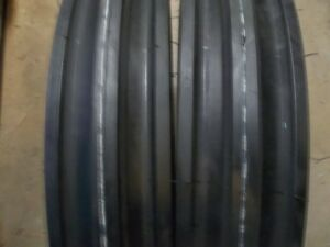 Two 400x12 400 12 4 00x12 4 00 12 Front 3 Rib Tractor Tires With Tubes