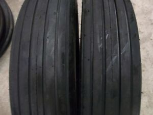Two 590 15 590x15 Rib Implement Disc do all wagon 4 Ply Tube Type Tractor Tires