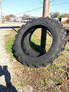 Two 8 3x24 8 3 24 Cub I h Cub 185 Lo boy Six Ply Tractor Tires With Tubes