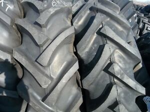 Two 16 9x30 16 9 30 John Deere R 1 Bar Lug 8 Ply Tractor Tires