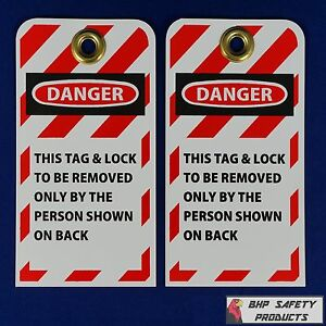 Safety Lockout Tags With 3 8 Brass Grommet 2 Packs Of 25 50 Tags Total