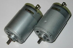 2 X Johnson Electric 12v Motor Traxxas Rc Power Wheels Fan Cooled Dc Motor
