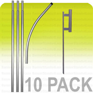 10 Pack Swooper Feather Flag Pole 15 Spike Kit Sign Wholesale Flutter Style