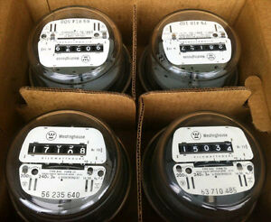 Electric Watthour Meter Kwh E z Read Cyclone 240v 200a Residential Lot Of 4