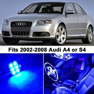 19 X Premium Blue Led Lights Interior Package Upgrade For Audi A4 2002 2008