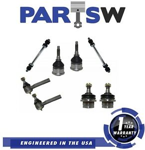 8 Parts Kit Suspension Ball Joint Outer Tie Rod Sway Bar Link Brand New