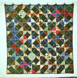 Cathedral Window Quilt 66 X 66 Dated 1934 Pa Fancywork Cottons Wools