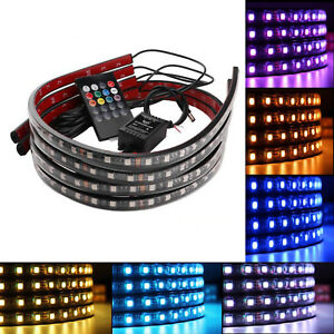 8 Color Led Under Car Glow Underbody System Neon Lights Kit 48 X 2