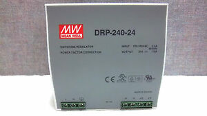 Mean Well Switching Regulator Drp 240 24 New Drp24024