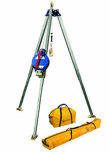 Falltech 7501 Confined Space Tripod With 60 Retrieval Winch