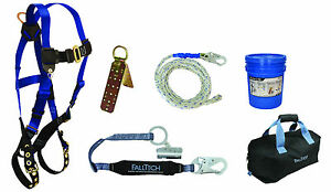 Falltech 8595ra Fall Protection Professional Roofers Kit