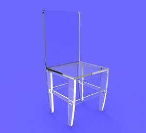 4 Assembled Clear Acrylic Ghost lucite plexiglass perspex Chairs 10035 3
