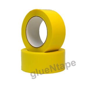 Yellow Color Carton Sealing Packing Tape 2 X 330 48 Mm X 110 Yards 36 Rolls