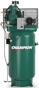 Champion 5 Hp 2 Stage 1 Phase Air Compressor Vrv5 8 Full Package Usa Made