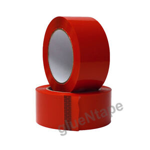 Red Color Carton Sealing Packing Tape 2 X 330 48 Mm X 110 Yards 12 Rolls
