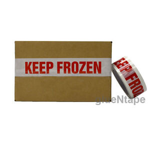 Keep Frozen Preprinted Packing Tape 2 Inch X 110 Yards 9 Rolls