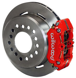 Wilwood Disc Brake Kit rear Parking big Ford New 2 50 11 Rotors red Calipers