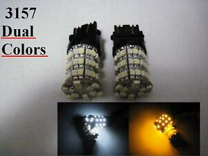 4 X 3157 60 3528smd Led Dual Colors White Amber Switchback Type 2
