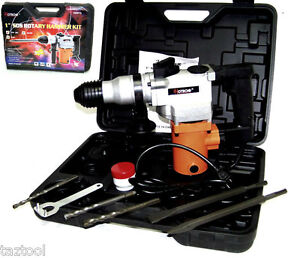 1 Rotary Hammer Drill Electric Power W Punch Chisel Drill Bits Sds Plus 3 4hp
