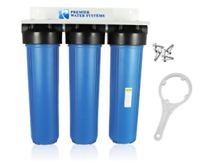 Triple Big Blue 20 Water Filter System 1 With Bracket Wrench