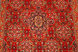 C1930s Antique Highly Detailed Herati Design Kork Wool Prsian Bijar Rug 2 4x2 9