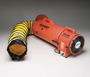 Allegro 9533 25 Confined Space 8 Ac Plastic Blower With 25 Ductinglle