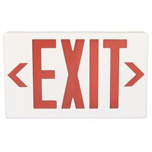 Plastic Led Exit Sign With Backup Battery Red