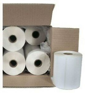 Case 10 Roll Direct Thermal 4x6 Adhesive Shipping Label Zebra New