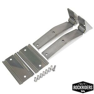 1997 2006 Jeep Wrangler Unlimited Tailgate Hinges Stainless Steel Pair