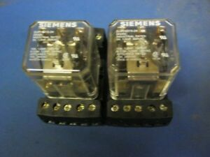 Seimens 24vdc 600 Vac Relay With Allen Bradley Relay Base Socket Lot Of 2